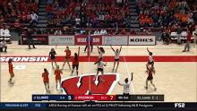 WVB: Wisconsin vs illinois 10/18/2019