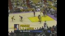 NBA: L.A. Lakers vs Phoenix 4/14/1996
